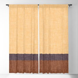 Simple Stripe Abstract with Crisscross Weave Pattern Blackout Curtain