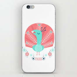 Scandi Peacock iPhone Skin