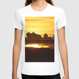 Dramatic sunset with bridge T-shirt