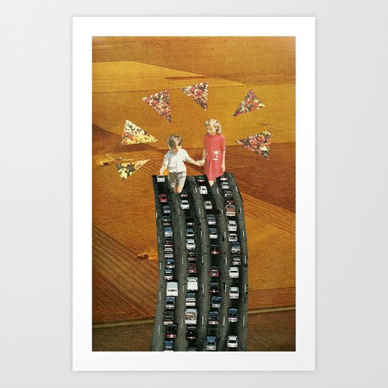 Hands to the Freeway Art Print