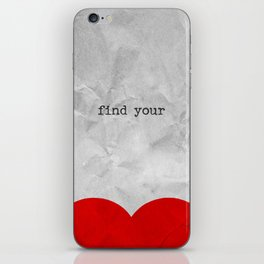 find your half (1 of 2 parts)  iPhone Skin
