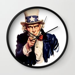 Uncle Sam Pointing Finger Wall Clock
