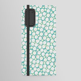 Mini Water Bubbles in Teal Android Wallet Case