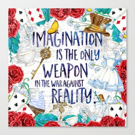 Alice in Wonderland - Imagination Canvas Print