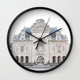 French Building City Of Lille France Photo | Parisian Architecture Art Print | Travel Photography Wall Clock