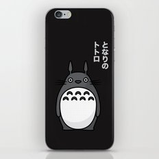 Totoro Pop Art - Black Version iPhone & iPod Skin