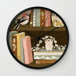 cottage bookshelf Wall Clock