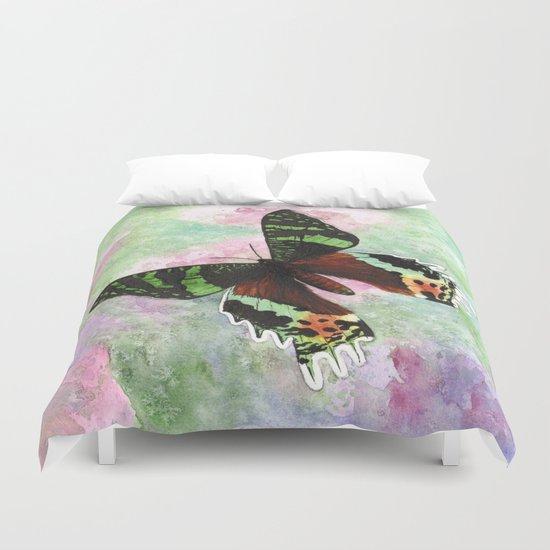 Urania Ripheus Butterfly Duvet Cover