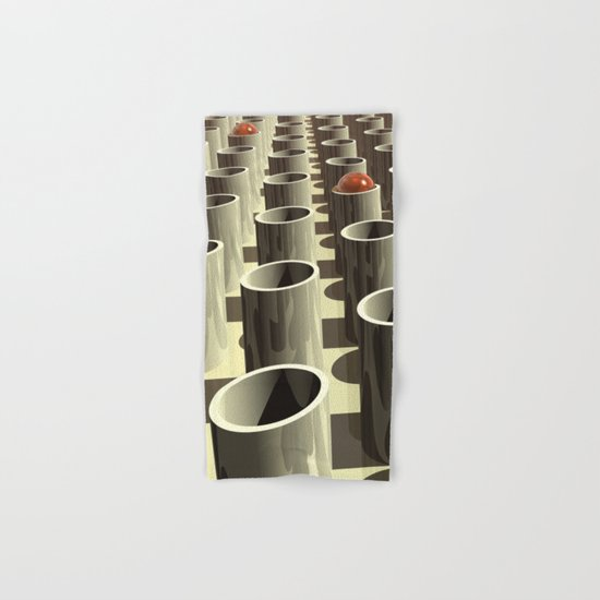 Stockyard of Cylinders Hand & Bath Towel