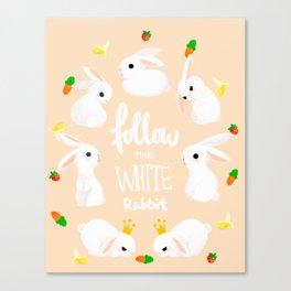 rabbit print Canvas Print