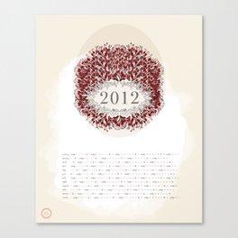 Ash & Anchor 2012 Calendar Canvas Print