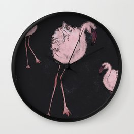 FLAMINGOAGOGO NIGHT Wall Clock
