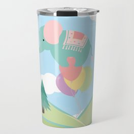 Elephant and Balloons, nursery decor , Travel Mug