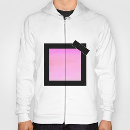 pink square with black bow Hoody