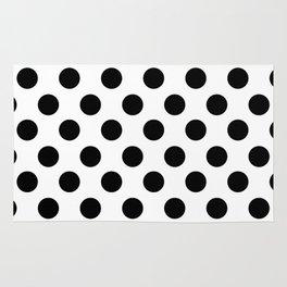 Black and White Medium Polka Dots Rug