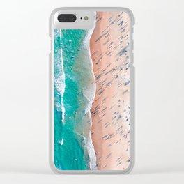 Endless beach Clear iPhone Case
