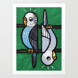 Parakeet Up, Parakeet Down Art Print