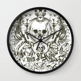 Win or die Wall Clock