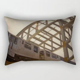 The Pink Line Rectangular Pillow