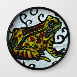 Lucky Frog Wall Clock