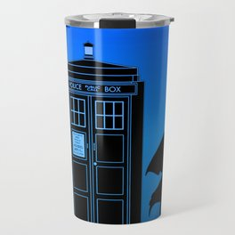Tardis With The Third Doctor Travel Mug