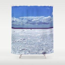 Salty horizon Shower Curtain