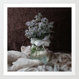 Wild Asters in a Mason Jar Art Print
