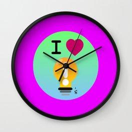 I Love Ideas Wall Clock