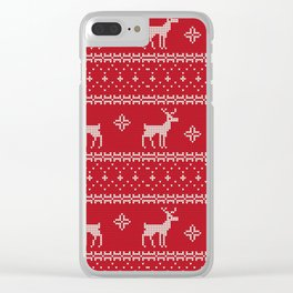 Christmas Pattern Snowflake V5 Clear iPhone Case