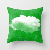 cloud Throw Pillows featuring Cloud by Mr & Mrs Quirynen
