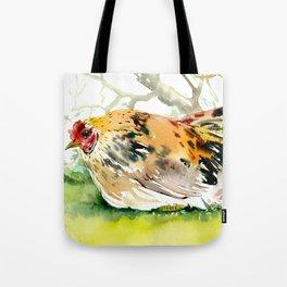 Chicken, Farm animal art chicken in the farm Tote Bag