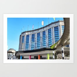 Brussels Central Rail Station Art Print