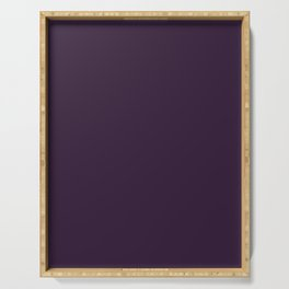 Dark Purple Violet Serving Tray