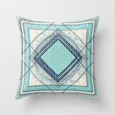 Teal Quilt  Throw Pillow