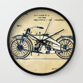 HD Motorcycle Patent - Circa 1924 Wall Clock