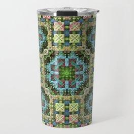 """""""Needlepoint Sampler"""" (3D Fractal) Travel Mug"""