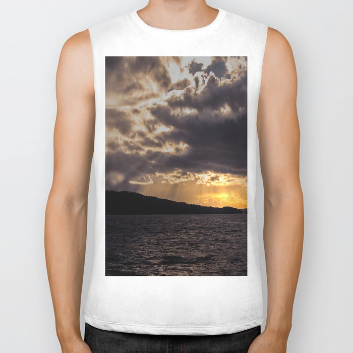 Dramatic change in the weather Biker Tank