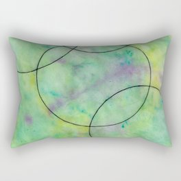 Green Spots Rectangular Pillow