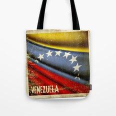 Grunge sticker of Venezuela flag Tote Bag