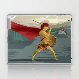 epic spartan soldier in the rain Laptop & iPad Skin