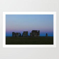 Stonehenge In Pink Art Print