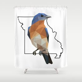 Missouri – Eastern Bluebird Shower Curtain