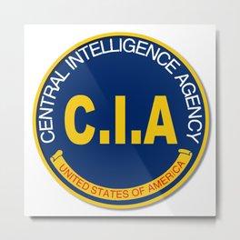 CIA Logo Mockup Metal Print