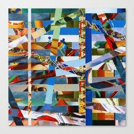 Michael (stripes 9) Canvas Print