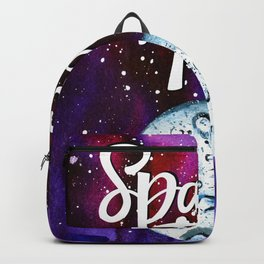 Space Neon Watercolor #9: Space Travel Backpack