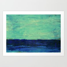 ABSTRACT SEASCAPE 5 Art Print