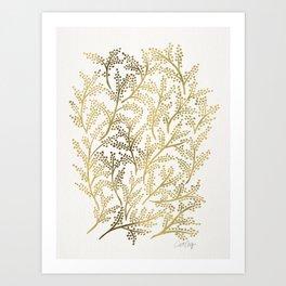 Gold Branches Art Print