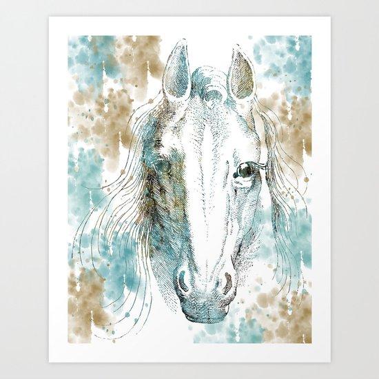 Watercolor Horse Art Print