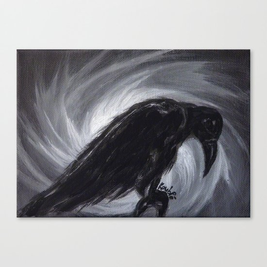 Dream the crow black dream. Canvas Print