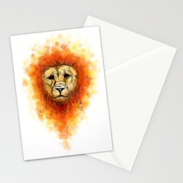 Gesture Lion with Mane Stationery Cards